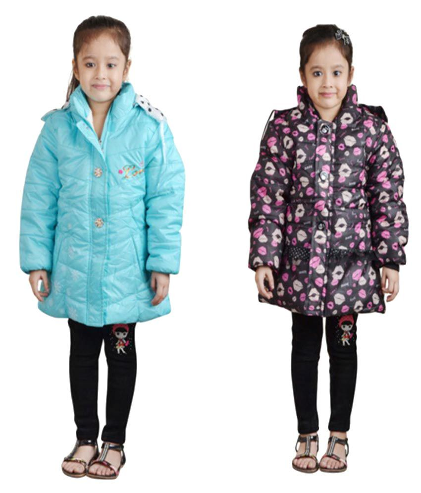 Qeboo Multicolour Quilted Jacket - Pack of 2