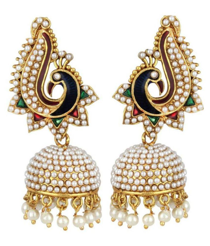 Jewels Gehna Multicolour Jhumki Earings