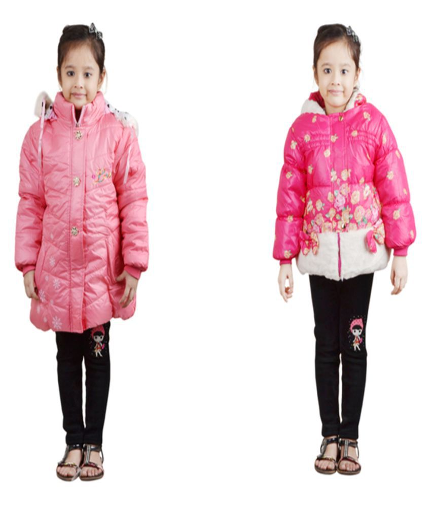 Crazeis Pink Nylon Jacket - Pack of 2