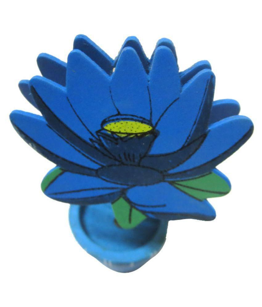 Little Genius Decoration Wooden Blue Lotus Flower Buy Little