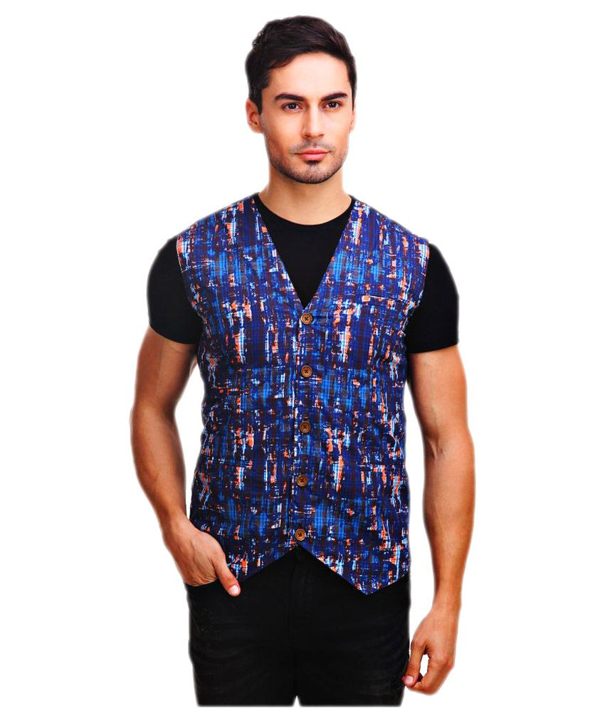 Chokore Multi Striped Casual Waistcoats