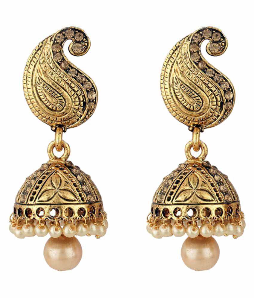 Styylo Fashion Exclusive Golden Jhumki Earrings