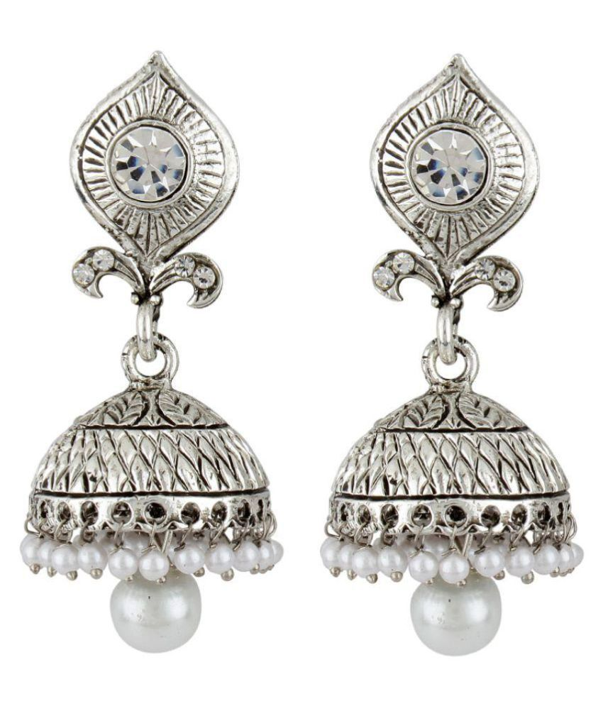 Styylo Fashion Exclusive Silver Jhumki Earrings