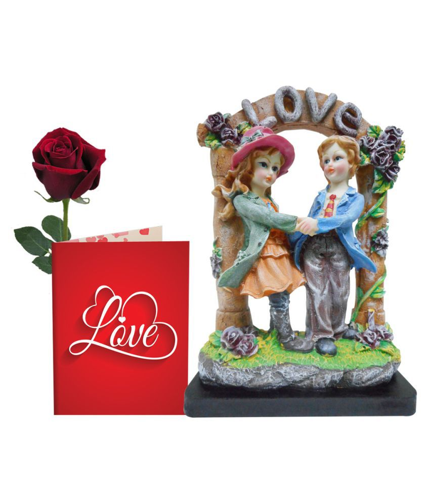 Sky Trends Valentine Gift For Boyfriend Printed Greeting Card Statue