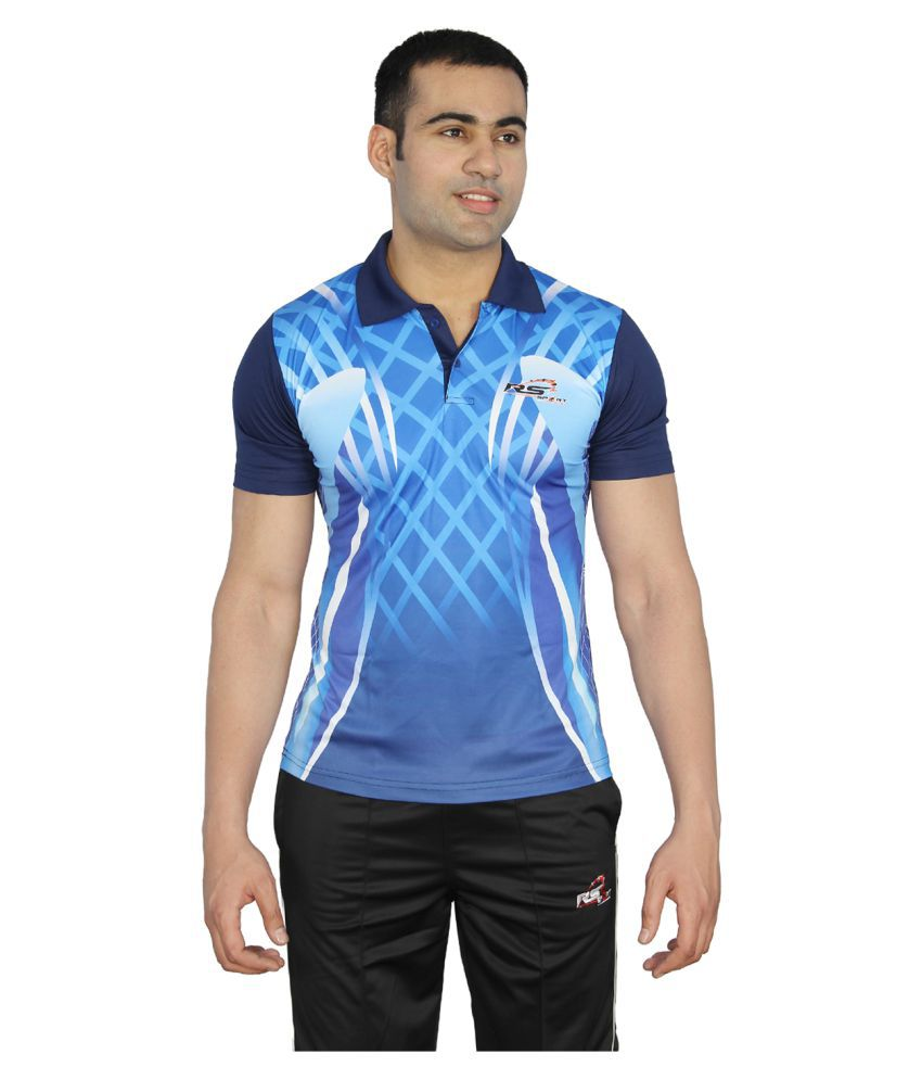 RS Sports Blue Active Wear T-Shirt
