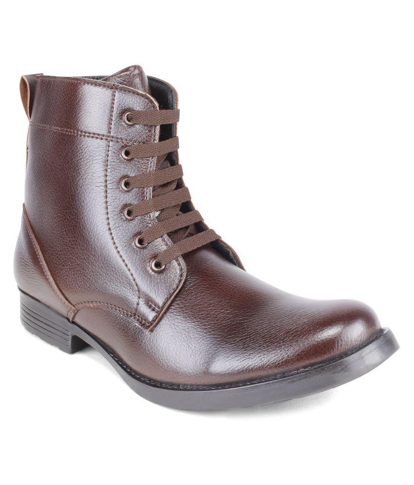ShuBar Brown Formal Boot