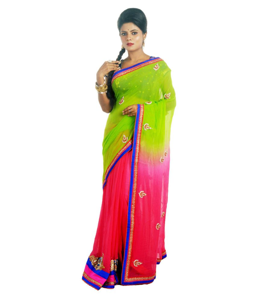 Indy Multicoloured Viscose Saree
