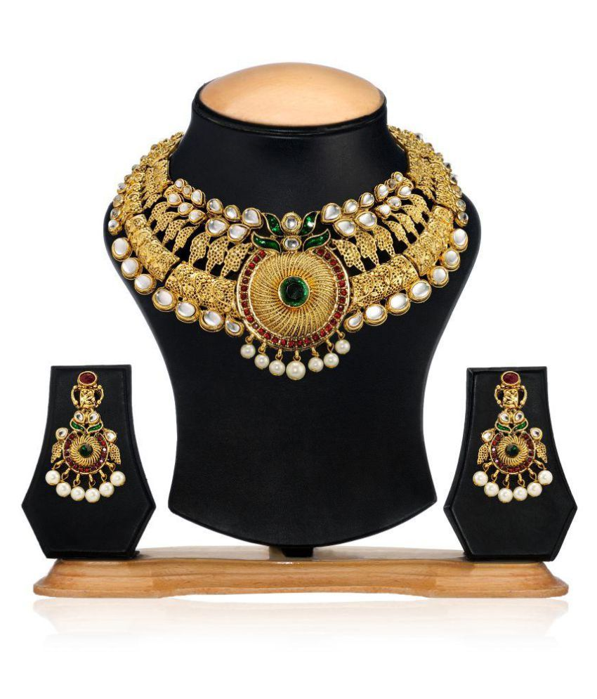 Zaveri Pearls Multicolour Alloy Necklace Set