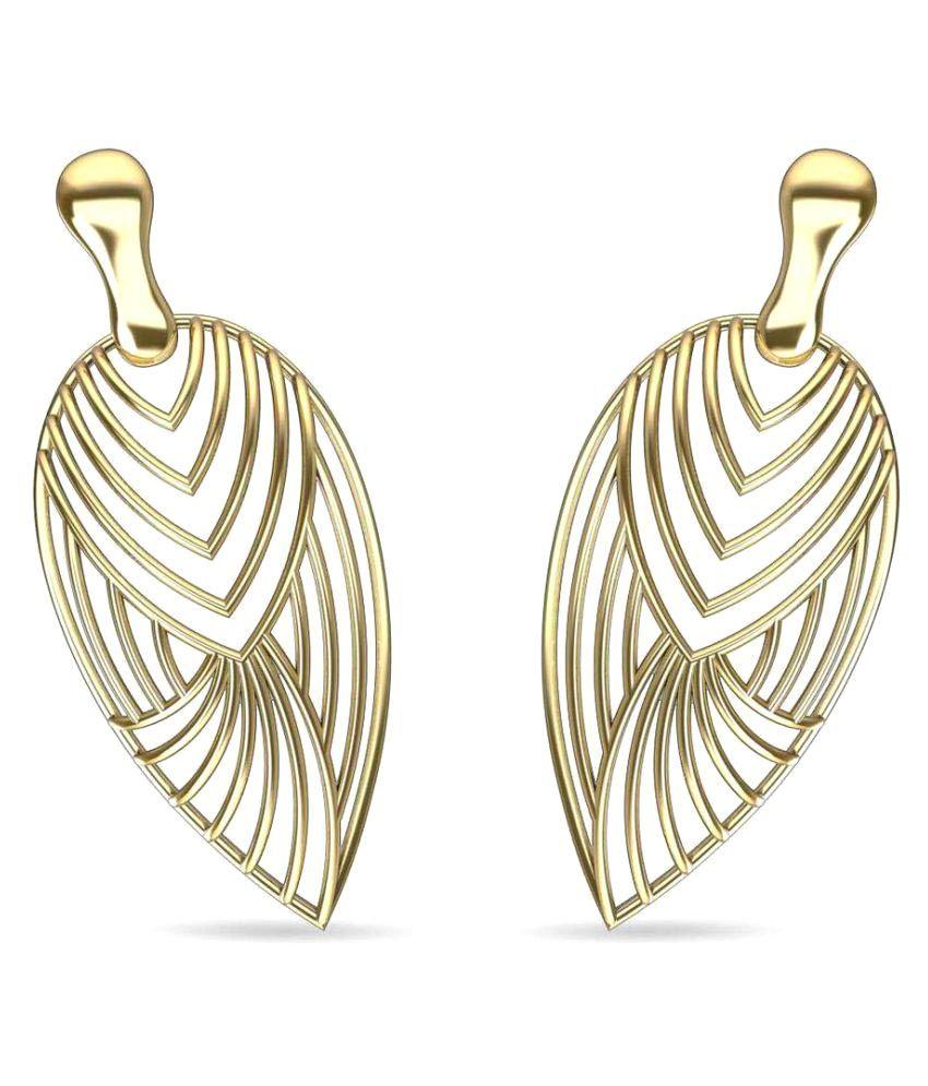 Gold24 14k Yellow Gold None Drop Earrings