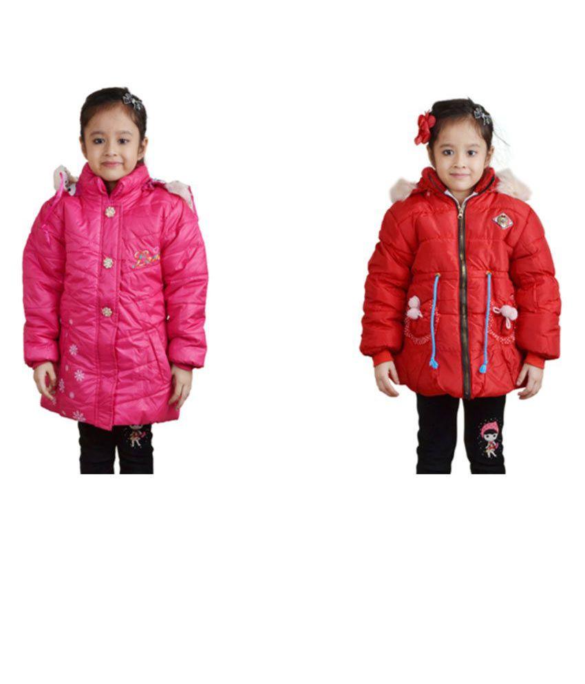 Crazeis Full Sleeves Combo of 2 Nylon Jackets For Girls