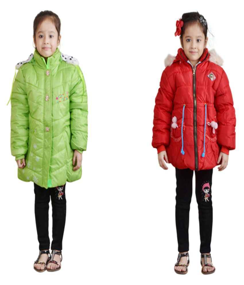 Crazeis Full Sleeves Combo of 2 Nylon Jackets For Girls