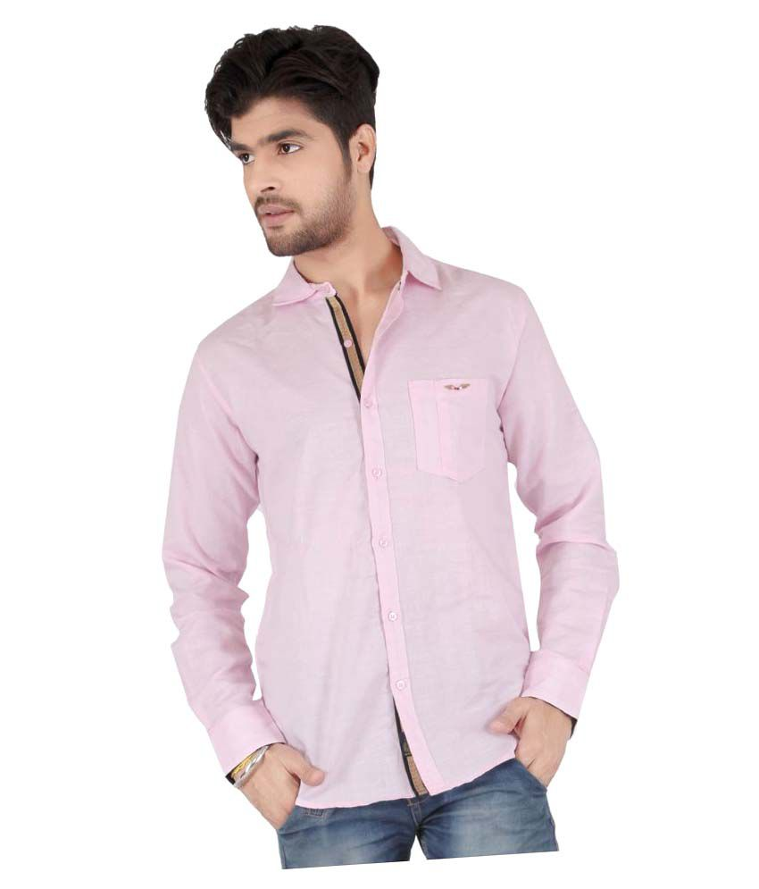 Appollo Pink Casuals Slim Fit Shirt