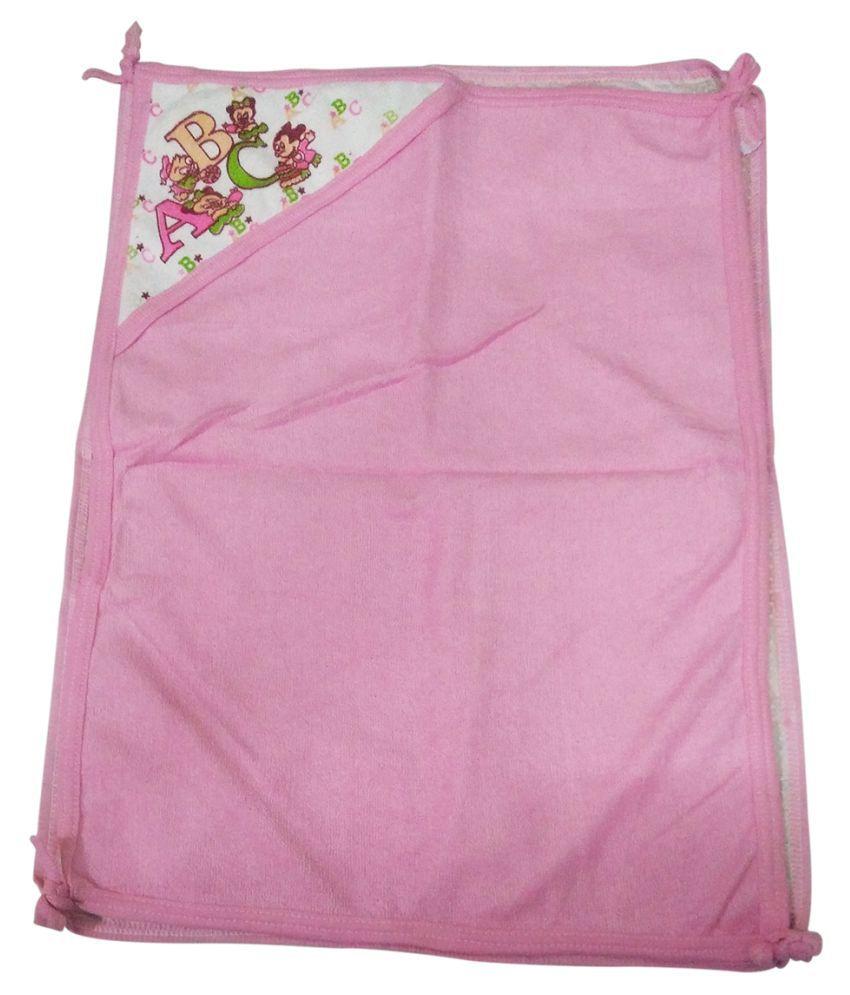 Gold Dust Pink Swaddle cloth Baby Wrap cum blanket ( 60 cm × 45 cm - 1 pcs)