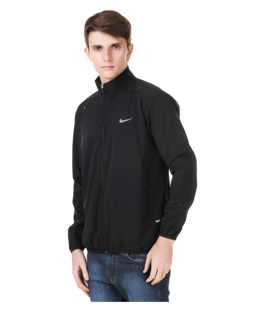 f443a7fe3b Nike Black Polyester Terry Jacket Nike Black Polyester Terry Jacket ...