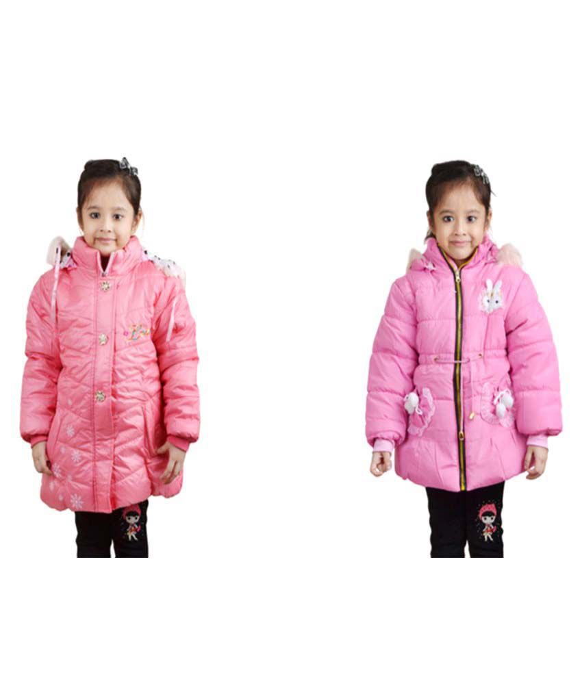 Crazeis Pink Nylon Quilted & Bomber Pack Of 2