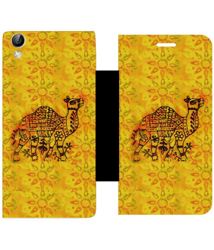 Vivo Y51L Flip Cover by Skintice - Yellow