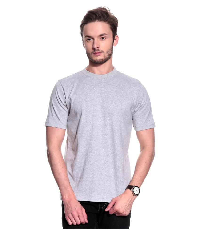 T10 Sports Grey Cotton Lycra T-Shirt