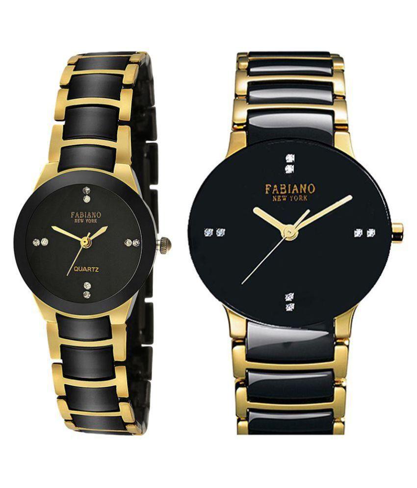 Fabiano New York Multicolor Analog Couple Watch