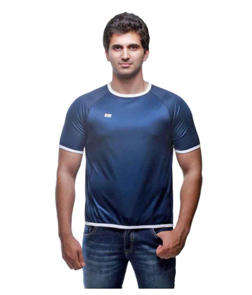 T10 Sports Navy Cotton Lycra T-Shirt