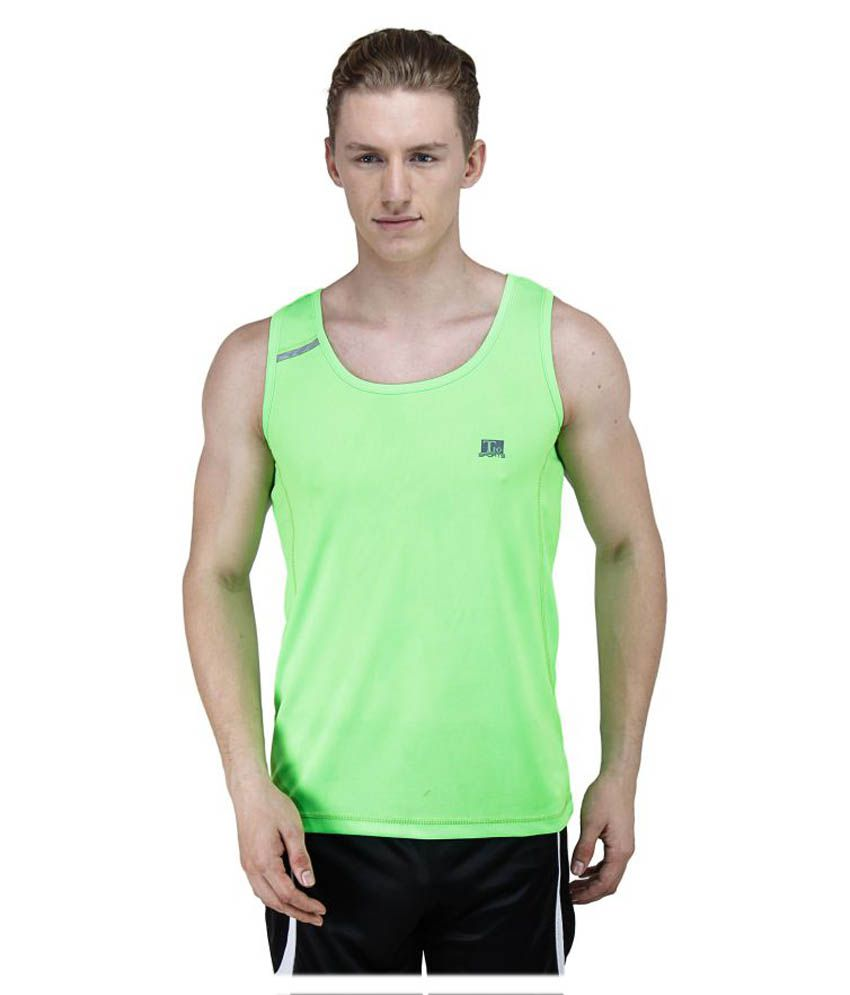 T10 Sports Green Cotton Lycra T-Shirt