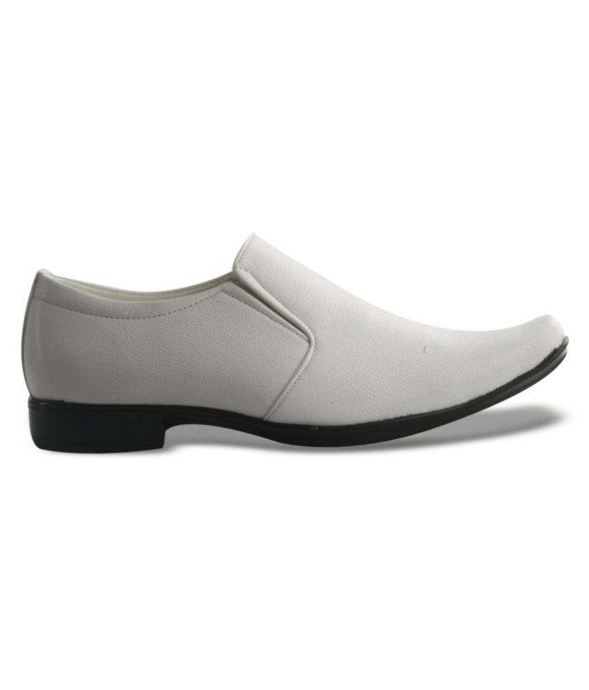 formal white office non leather formal shoes