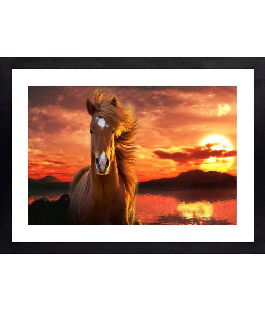 Craftsfest Lucky Horse Canvas Painting With Frame Single Piece