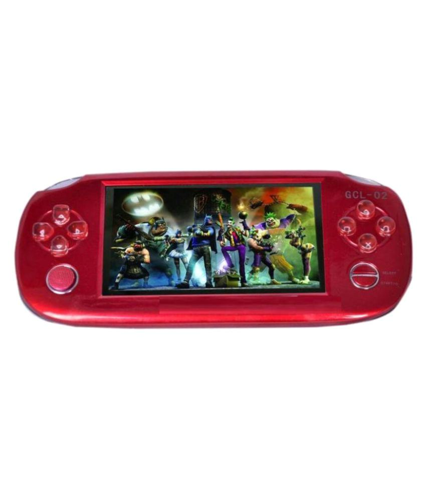 Digitech GRAND CLASSIC 3D PSP 4GB Handheld Console ( RED ) WITH FLASH CAMERA