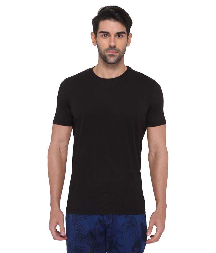 JadeBlue Black Round T-Shirt
