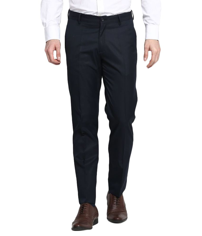 John Players Black Skinny Flat Trousers