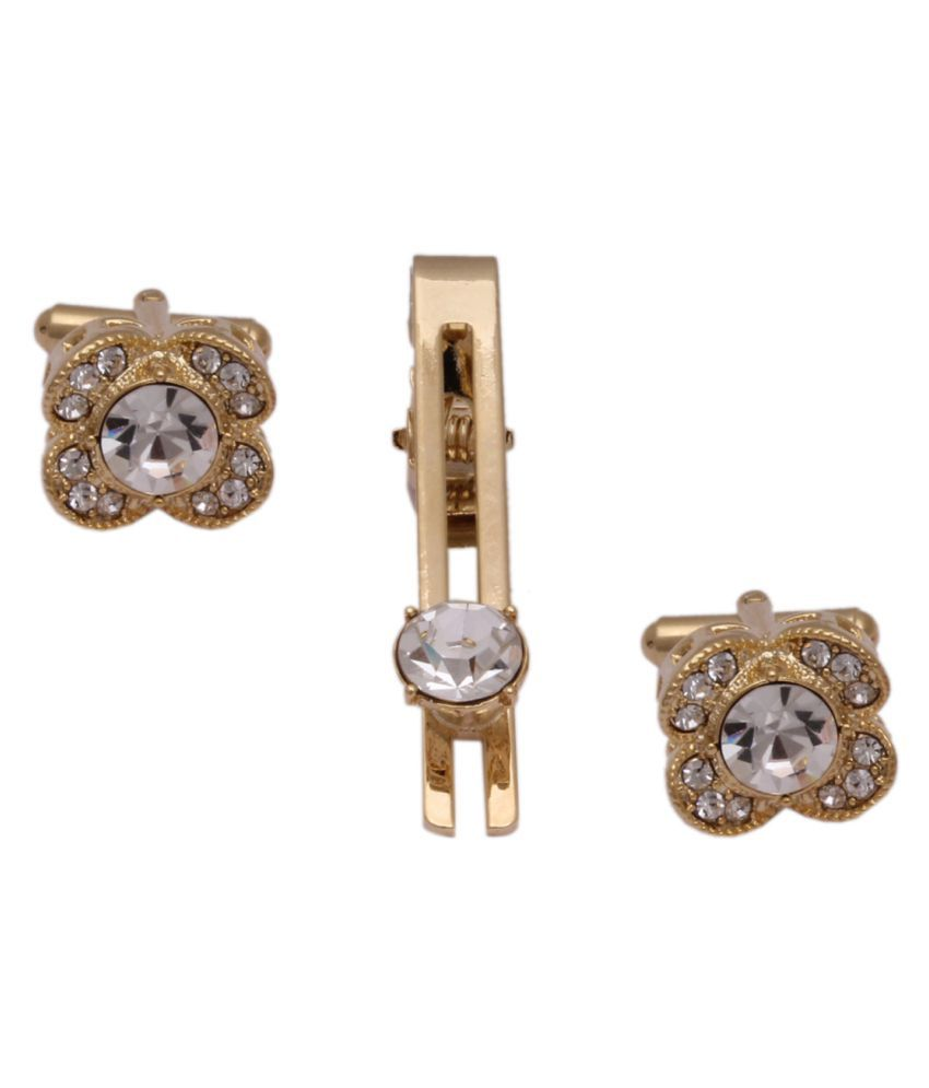 Sushito Traditional Golden Cufflink with Tie Pin