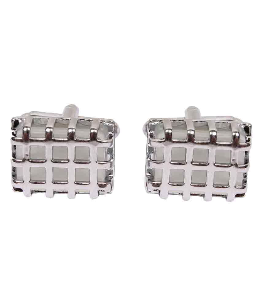 Sushito Chex Silver Coating Cufflinks