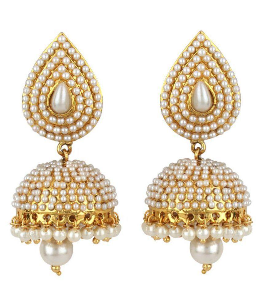 Angel In You Golden Jhumki Earrings