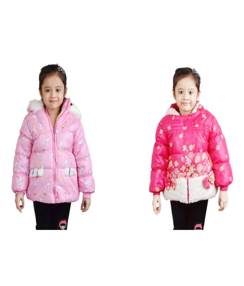 Crazeis Pink Nylon Jackets - Pack of 2