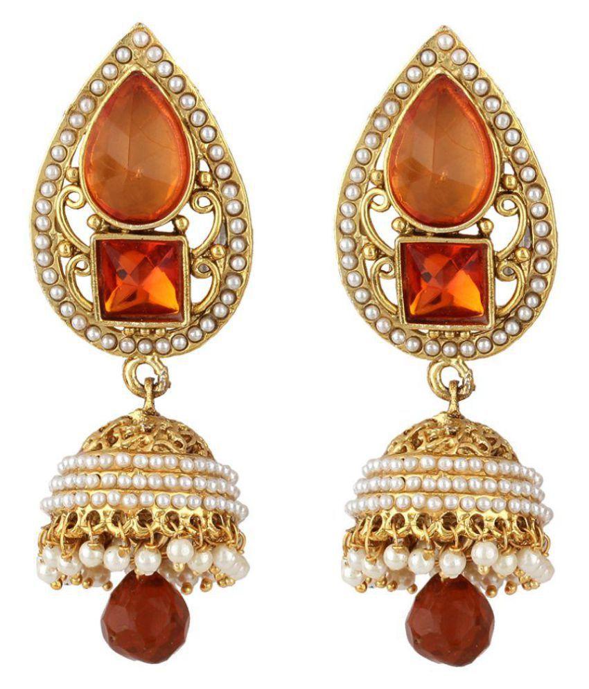 Jewels Guru Exclusive Multicolor Earrings