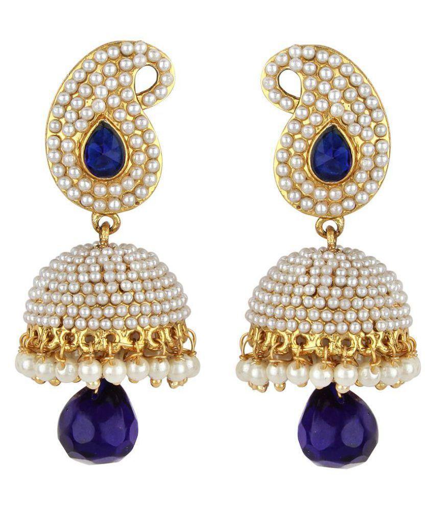 Jewels Guru Multicolour Alloy Jhumki