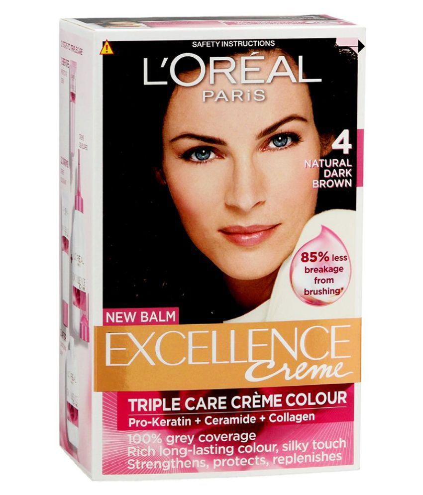 Loreal Excellence Natural Dark Brown No4 Hair Color 172 Ml Buy