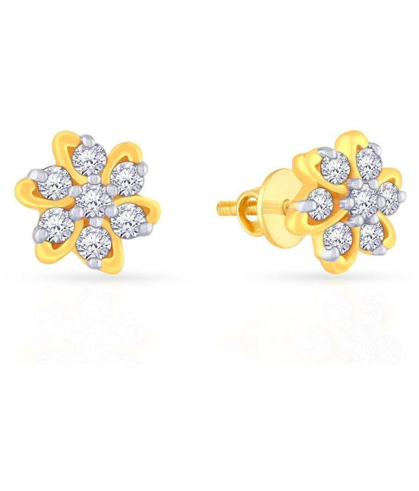 Malabar Gold And Diamonds 18k Gold None Studs