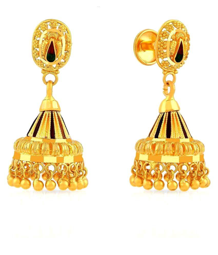Malabar Gold and Diamonds 22k Gold Jhumki