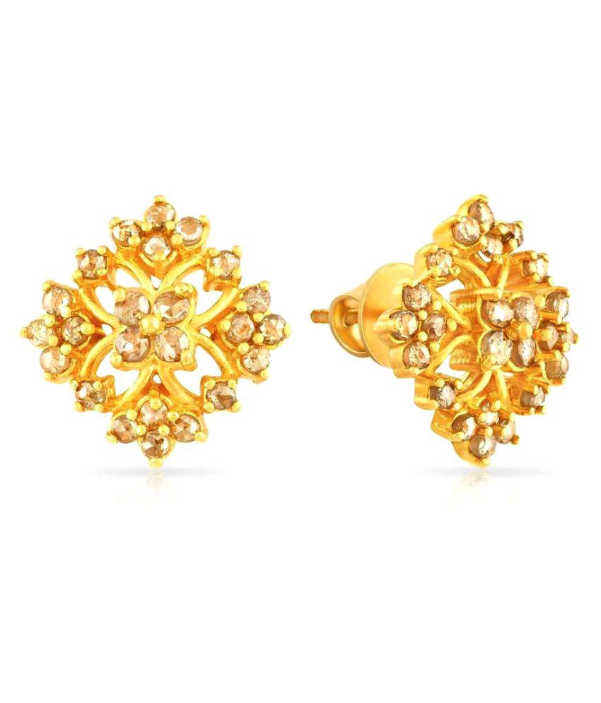 056c9a346 Malabar Gold and Diamonds 22k Gold Studs: Buy Malabar Gold and Diamonds 22k Gold  Studs Online in India on Snapdeal