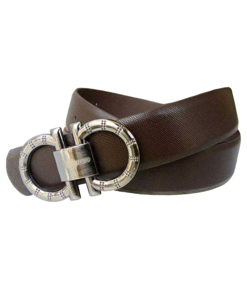LV Brown Leather Casual Belts