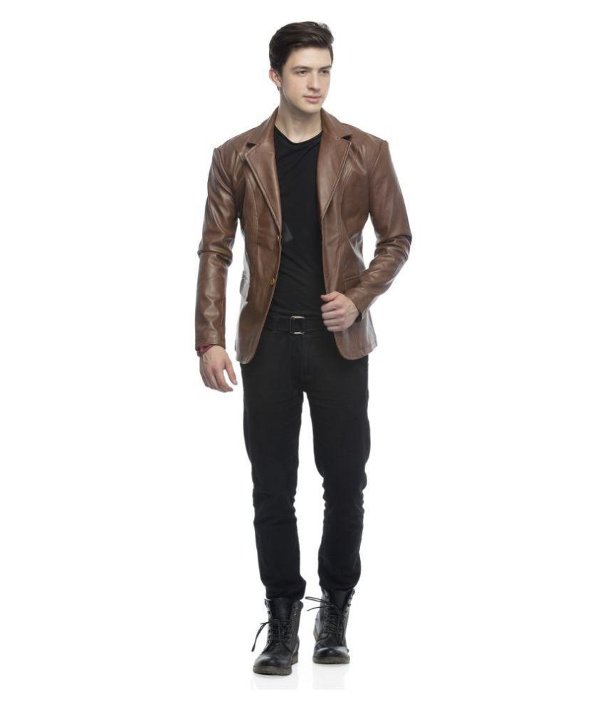 Lambency Brown Casual Jacket - Buy Lambency Brown Casual Jacket ...