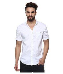 Mufti White Casuals Slim Fit Shirt