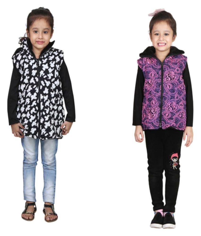 Crazies Nylon Multicolour Jacket - Pack Of 2