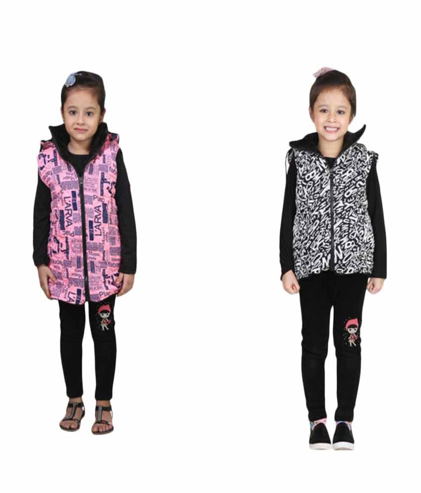 Qeboo Combo Of Half Jacket For Girl's