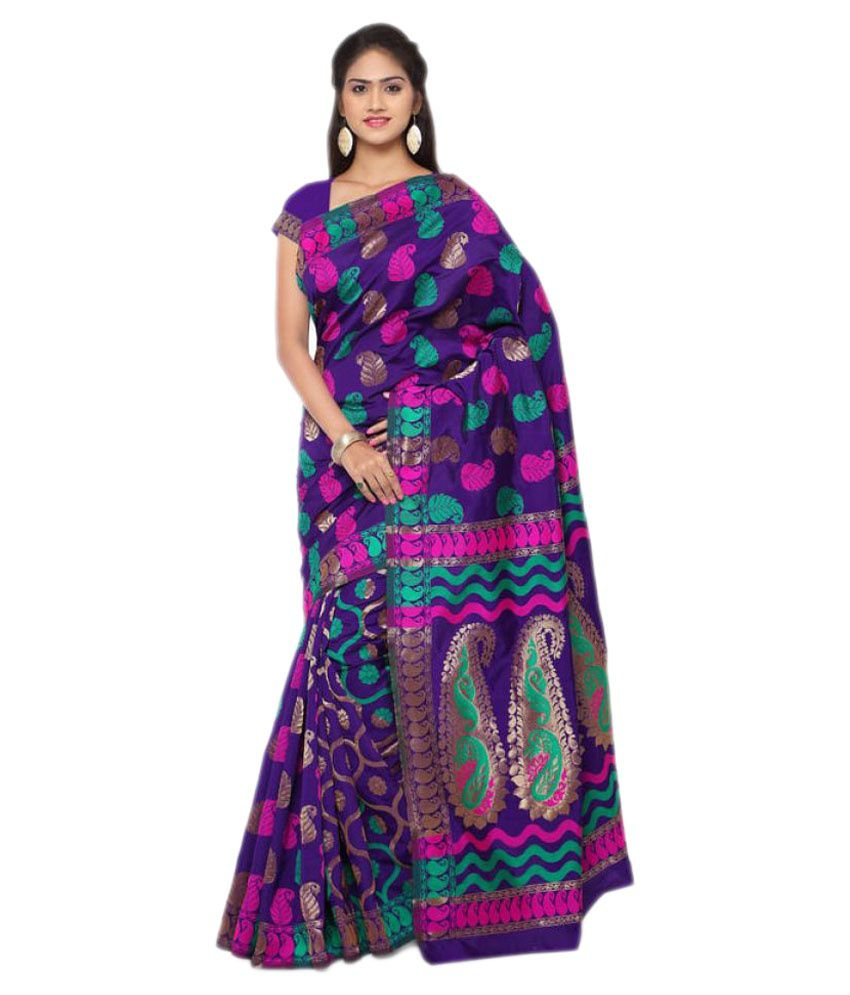 Makewayin Multicoloured Banarasi Silk Saree
