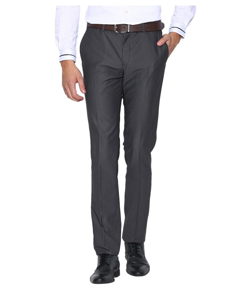 BLACKBERRYS Grey Skinny Flat Trousers
