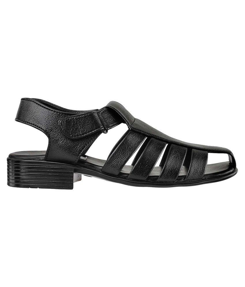 91a955f65 Mochi MOCHI Men BLACK SYNTHETIC BLACK Sandals Price in India- Buy ...