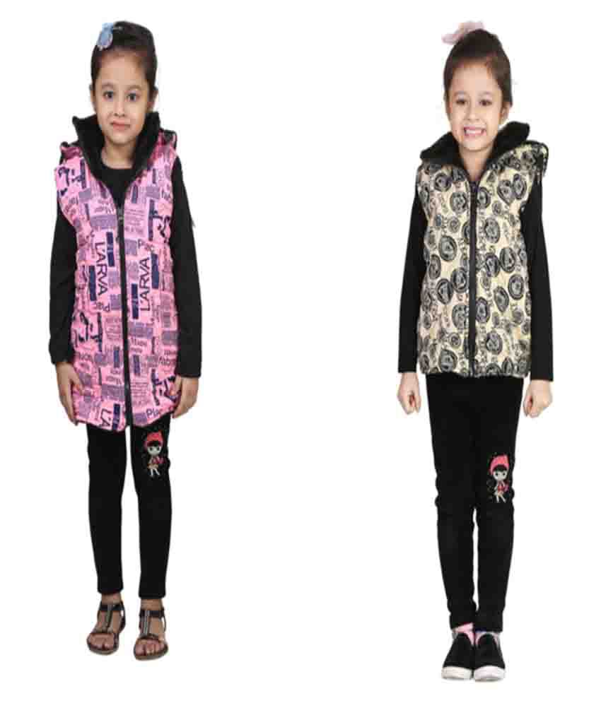 Crazies Multicolour Woven Jacket - Pack of 2