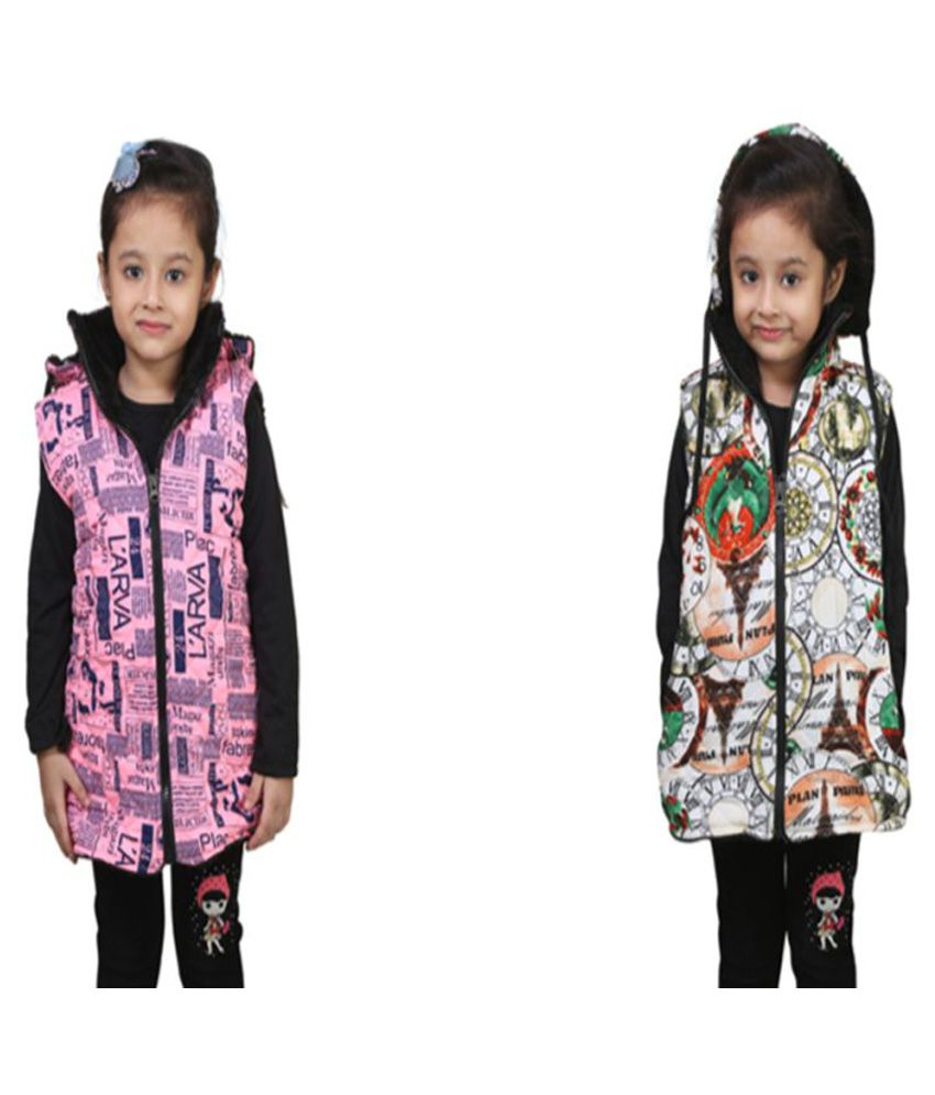 Qeboo Multicolor Light Weight Jacket - Pack of 2