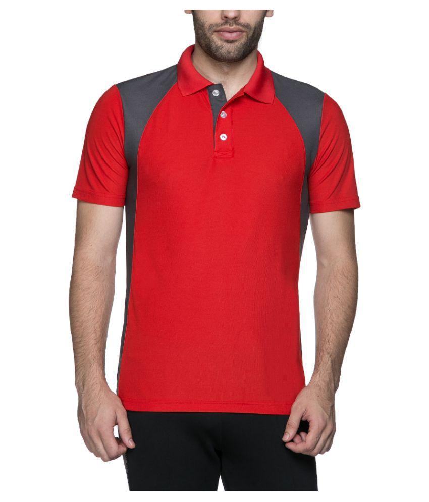 Puma Red Cotton Polo T-Shirt